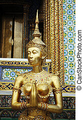 bangkok, palazzo, thailand., statua, grande