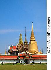 bangkok, phra, kaew, palacio, magnífico, tailandia, wat
