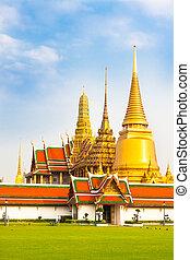 bangkok, phra, tailandia, temple., wat, kaew