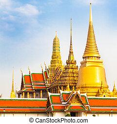 bangkok, phra, thailand, temple., wat, kaew