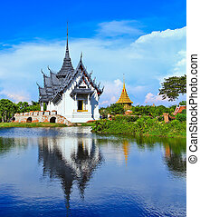 bangkok, prasat, sanphet, palacio, tailandia