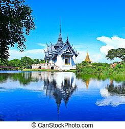 bangkok, prasat, sanphet, palazzo, tailandia