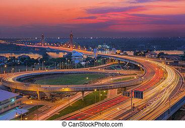 bangkok, puente, nonthaburi