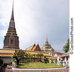 bangkok, reclinare, pho, budda, tailandia, wat, tempio