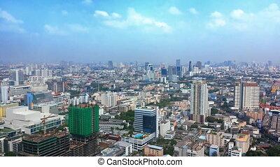 bangkok, rues, -, au-dessus, vue