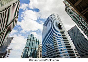 bangkok, thaïlande, bâtiments, moderne, ville