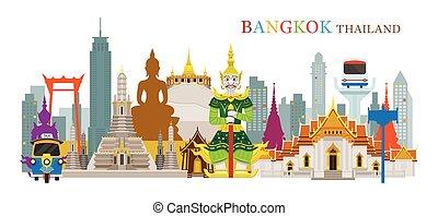 Bangkok, Thailand and Landmarks