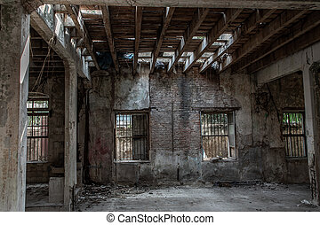 Abandoned buildings : Within the old customs house Or Old bang rak fire station.