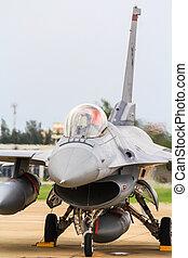 BANGKOK, THAILAND - JUNE 30: F-16 of Royal Thai air force...