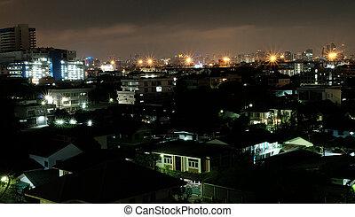 bangkok, -thailand, noturna
