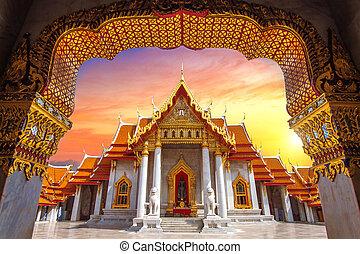 bangkok, thailand., tempiale marmo