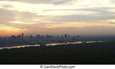 Bangkok, Thailand top view sun - Video of Bangkok, Thailand...