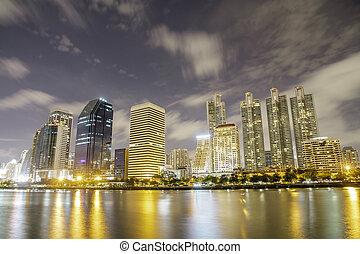 bangkok, tiro, noche