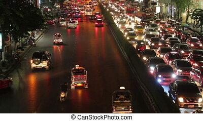 bangkok traffic jam - time lapse bangkok traffic rush hour...