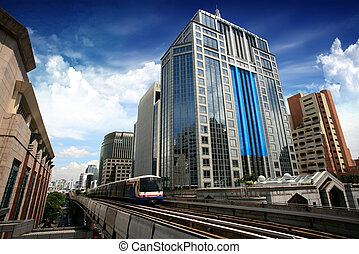 bangkok, train, ciel