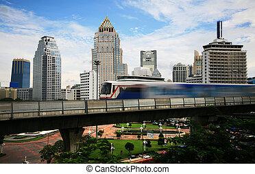 Bangkok,  train, ciel
