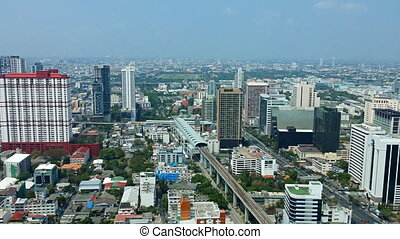 Bangkok. View of the city from a height. Static video shot 1080p