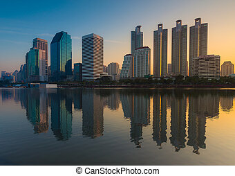 bangkok, ville, twight, vue