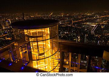 bangkok, vue aérienne, ville