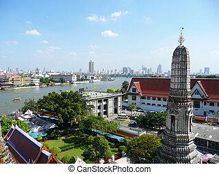 bangkok, wat, thailand., arun