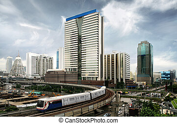 bangkok, zug, himmelsgewölbe