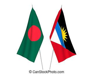 Bangladesh and Antigua and Barbuda flags - National fabric ...