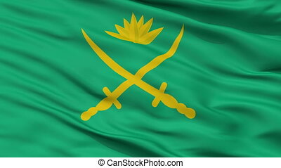 Bangladesh Army Flag Closeup Seamless Loop - Bangladesh Army...