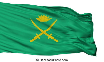 Bangladesh Army Flag Isolated Seamless Loop - Bangladesh...
