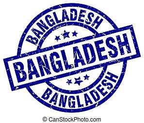 Bangladesh blue round grunge stamp
