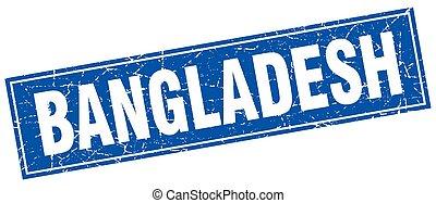 Bangladesh blue square grunge vintage isolated stamp