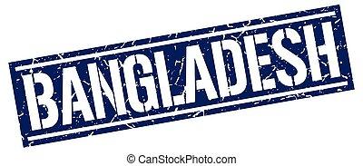 Bangladesh blue square stamp