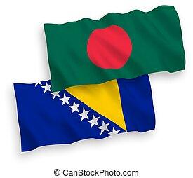 bangladesh, bosnia, blanco, herzegovina, plano de fondo, ...