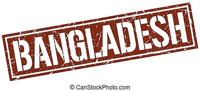 Bangladesh brown square stamp
