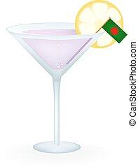 Bangladesh Cocktail - Cocktail with a flag of Bangladesh.