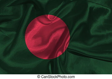 Bangladesh flag 3D illustration symbol.
