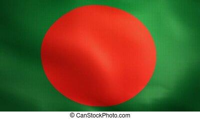 Bangladesh Flag. Background Seamless Looping Animation.