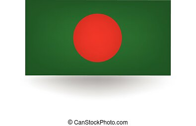 Bangladesh Flag - Official flag of Bangladesh.