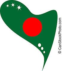 bangladesh flag in heart