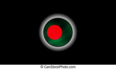 Bangladesh flag on button 1080p