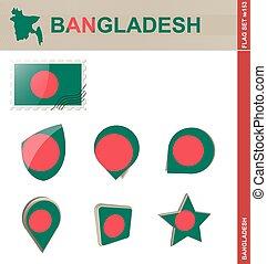 Bangladesh Flag Set, Flag Set #153