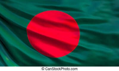 Bangladesh flag. Waving flag of Bangladesh 3d illustration