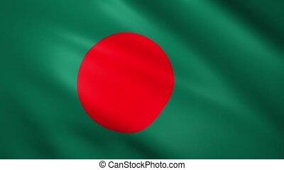 Bangladesh flag waving in the wind