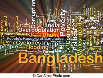 bangladesh, fundo, conceito, glowing
