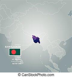 Bangladesh information map.