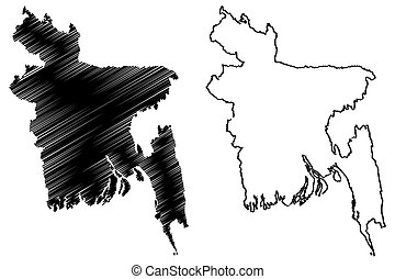 Bangladesh map vector