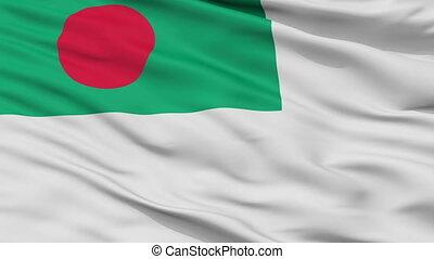 Bangladesh Naval Ensign Flag Closeup Seamless Loop - Naval...