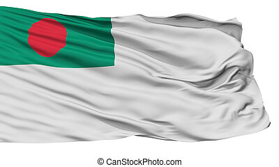 Bangladesh Naval Ensign Flag, Isolated On White Background, ...