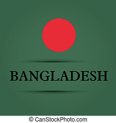 Bangladesh text on special background allusive to the flag