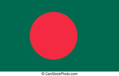 bangladesh, ufficiale, bandiera, correttamente, vettore, colori, proporzione