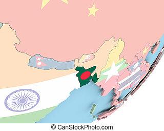Bangladesh with flag